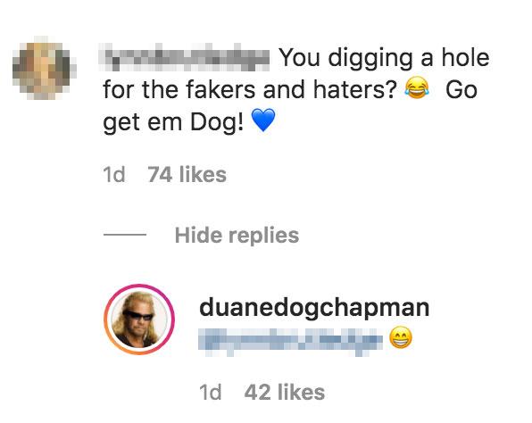 Duane Chapman Comment About 'Haters'