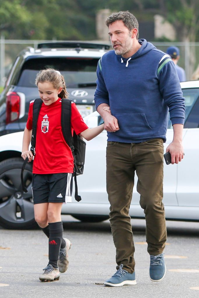 Seraphina Holds Hands With Dad Ben Affleck