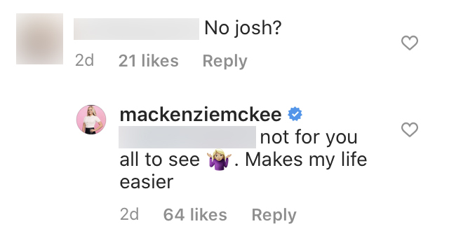 Teen Mom OG Star Mackenzie McKee Claps Back at Fan Asking About Josh on Family Photo