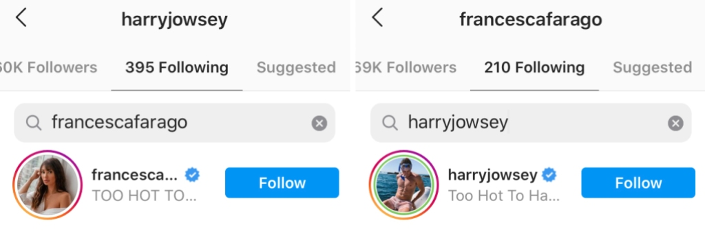 Too Hot to Handle Harry Jowsey and Francesca Farago Still Together Proof
