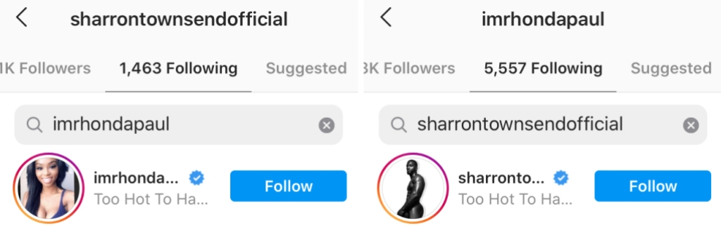 Too Hot to Handle Sharron Townsend and Rhonda Paul Still Together Proof
