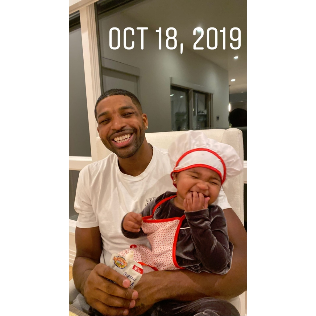 Tristan Thompson and True Laugh in Never-Before-Seen Photo Shared by Khloe Kardashian
