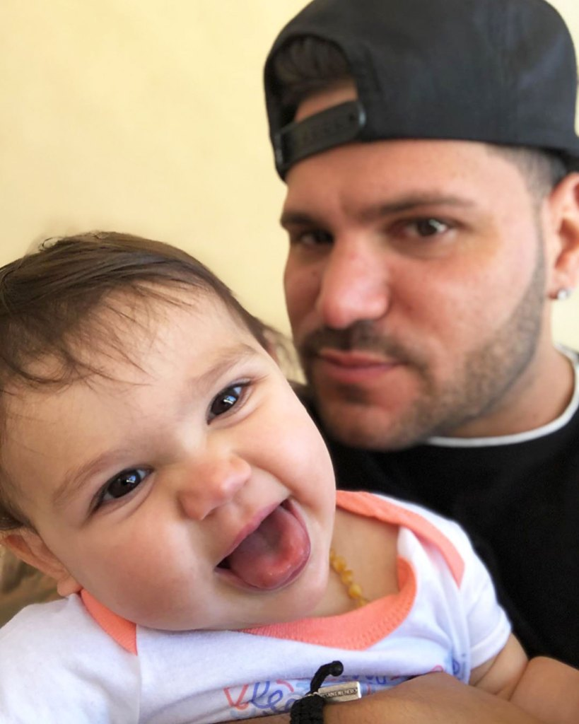 Jersey Shore Ronnie Ortiz-Magro and Jenn Harley Daughter Ariana Sky Cutest Photos