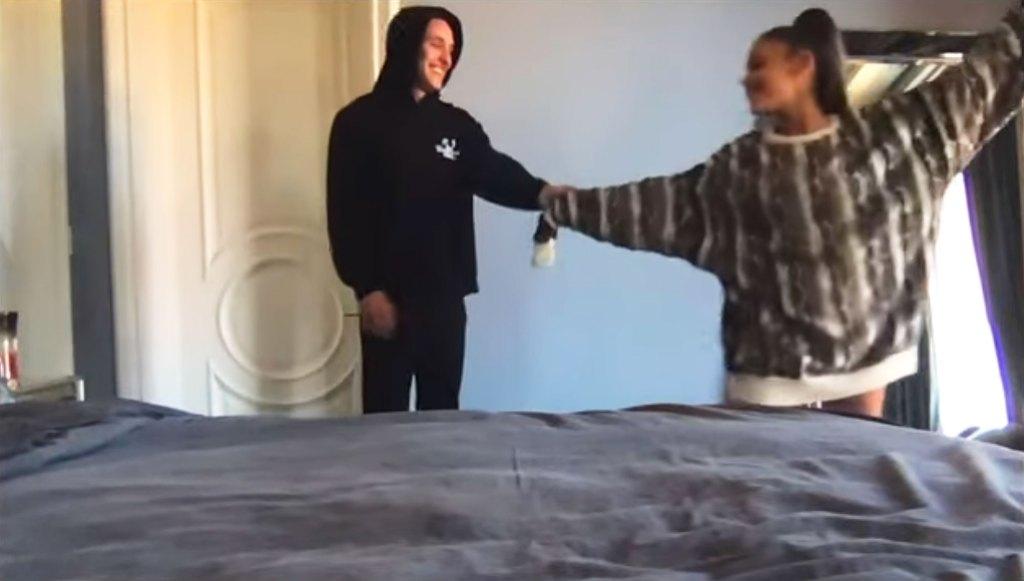 Dalton Gomez and Ariana Grande Dancing in Stuck With U Video