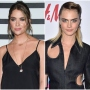 Ashley Benson Wears Black Mini Dress With Hair Up Cara Delevingne Wears Denim Cut Out Jumpsuit