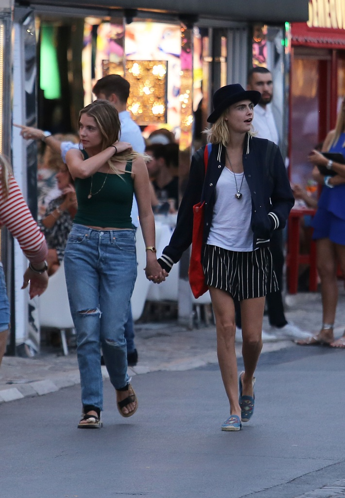 Ashley Benson and Cara Delevingne Hold Hands in St Tropez France