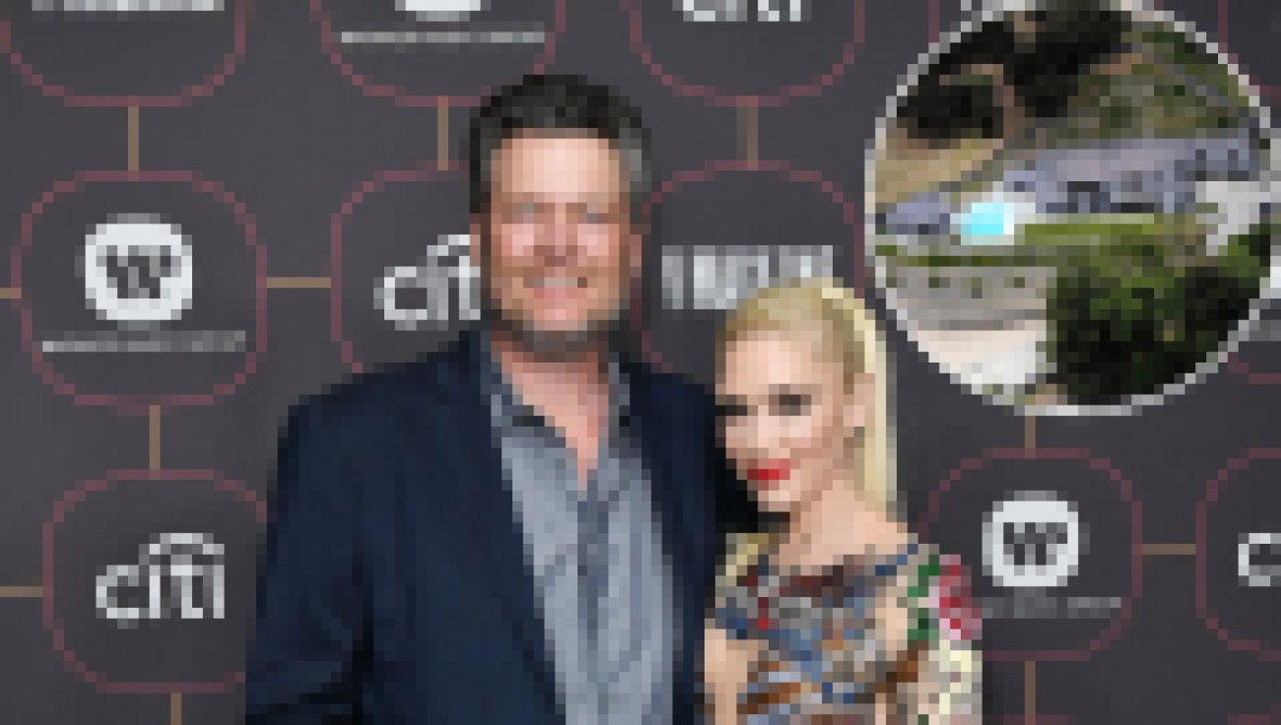 Blake Shelton and Gwen Stefani Stunning New Encino Mansion Aerial View
