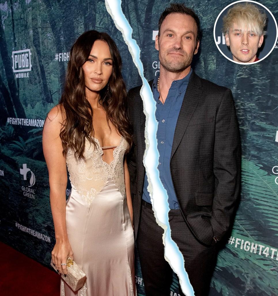 Brian Austin Green Confirms Megan Fox Split talks MGK