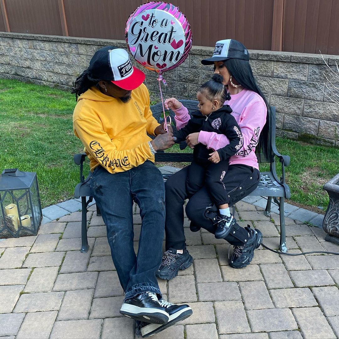 Cardi B and Offset Dance While in Quarantine With Daughter Kulture