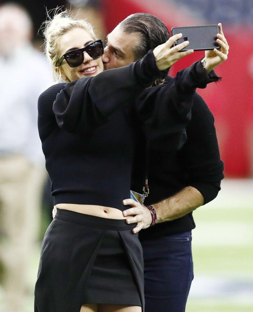 Lady Gaga and Christian Carino Taking a Selfie at Super Bowl LI Fans Think Lady Gaga Shades Ex Christian Carino in Song Fun Tonight
