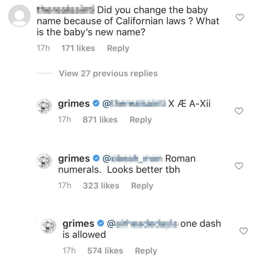 Elon Musk and Grimes Change Baby Name