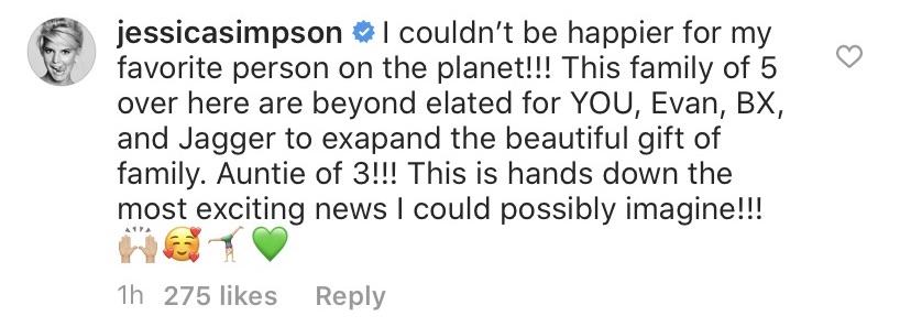 Jessica Simpson Reacts to Ashlee Simpson's Pregnancy