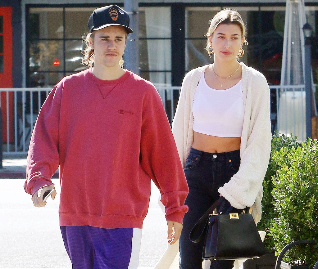 Justin Bieber and Hailey Baldwin in Los Angeles in 2018 Justin Bieber and Hailey Baldwin Threaten to Sue Surgeon Who Claims the Model Had Cosmetic Surgery