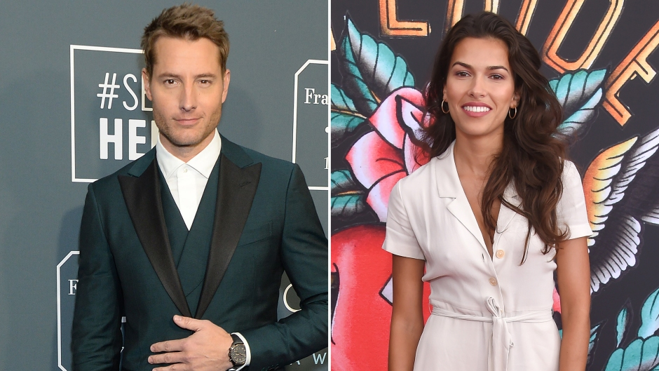 Side-by-Side Photos of Justin Hartley and Sofia Pernas