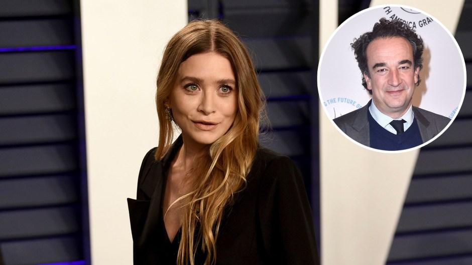 Inset Photo of Olivier Sarkozy Over Photo of Mary-Kate Olsen