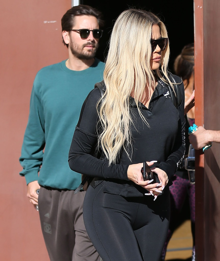 Scott Disick Khloe Kardashian Out and About in Los Angeles