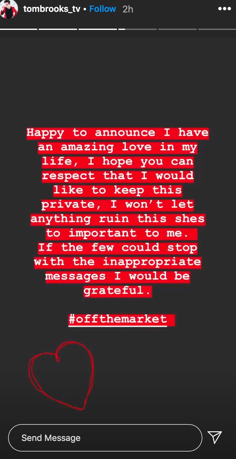 Tom Brooks Dating New 'Love' After Split
