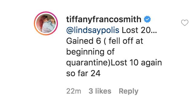 Tiffany Weight Loss Update