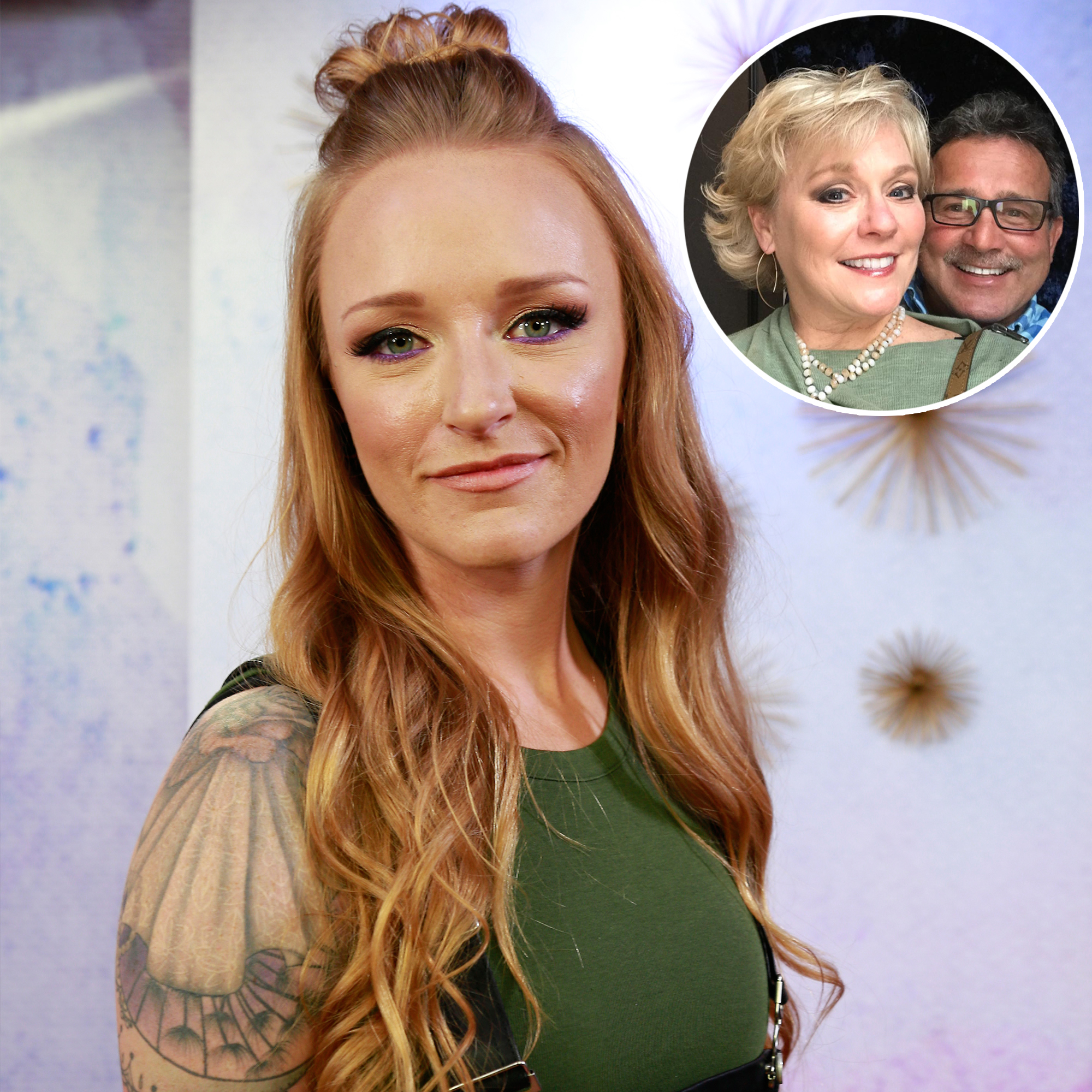 Inset Photo of Larry and Jen Edwards Over Photo of Maci Bookout McKinney