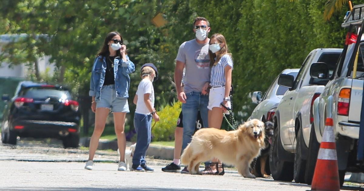 Ben Affleck and Girlfriend Ana de Armas Enjoy a Walk With His 3 Kids
