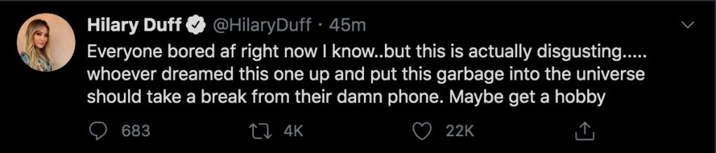 hilary duff resonds child sex trafficking rumors