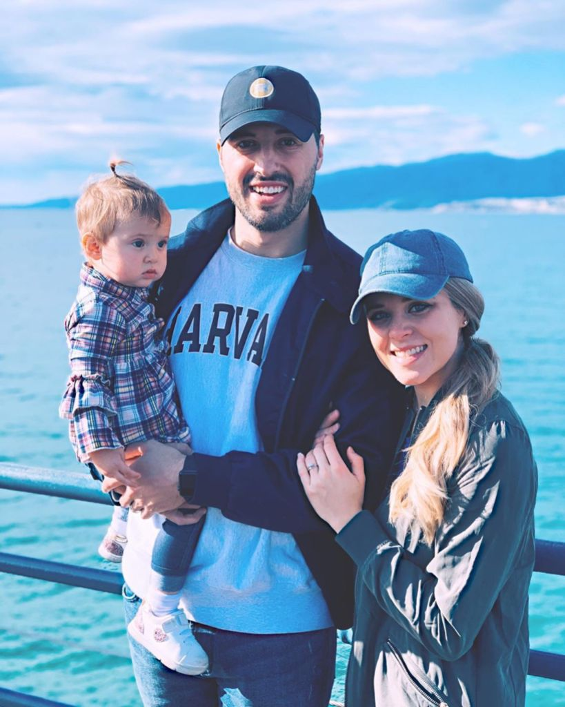 Jinger Duggar Husband Jeremy Vuolo and Baby Felicity Smile by the Water