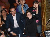 Mary Kate Olsen and Husband olivier sarkozy at cutting room before divorce