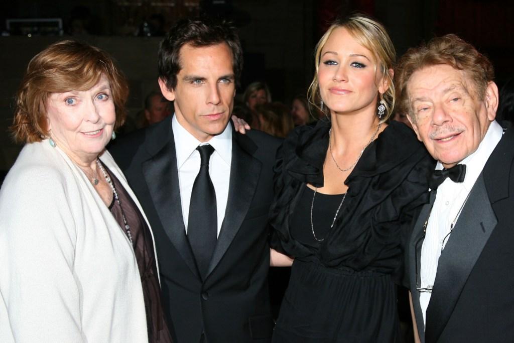 Ben Stiller Jerry Stiller Anne Meara Christine Taylor Dressed Up on Red Carpet