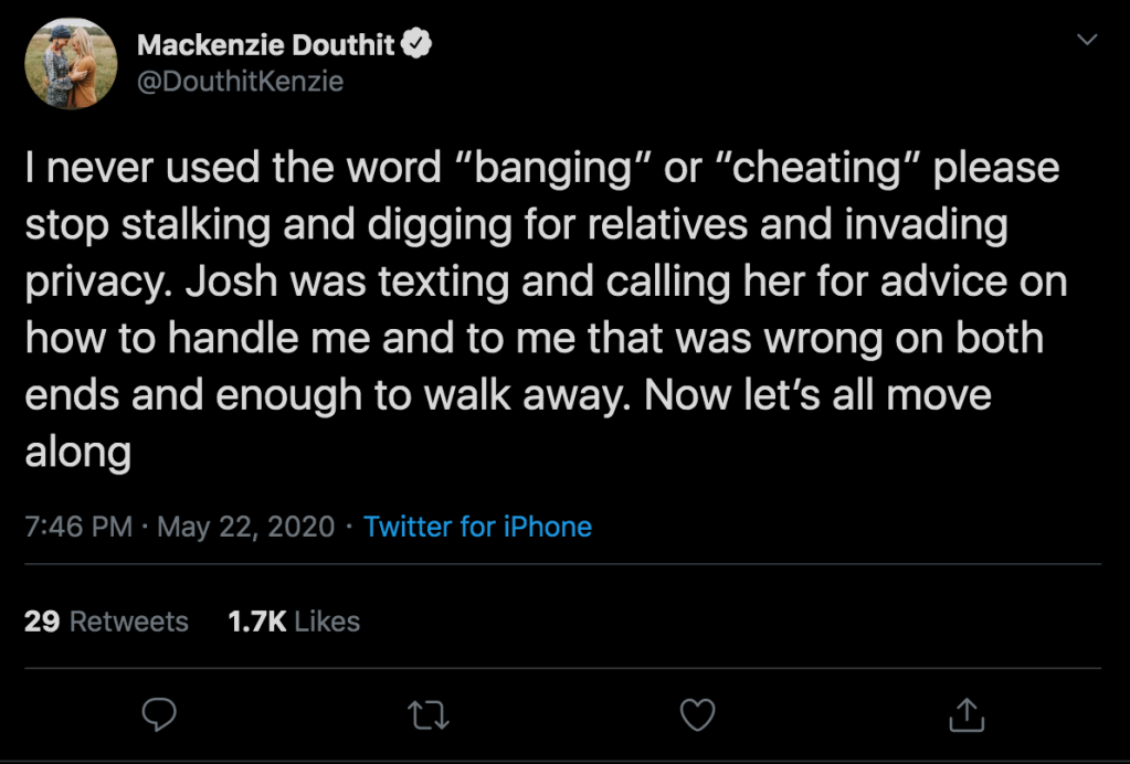 teen mom og mackenzie mckee josh didn't cheat with cousin