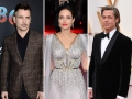 Side-by-Side Photos of Colin Farrell, Angelina Jolie and Brad Pitt