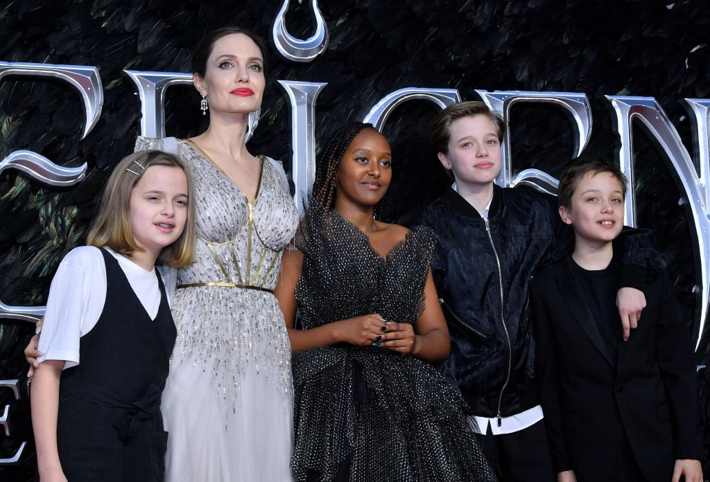 Angelina Jolie and Children Zahara, Shiloh, Knox and Vivienne