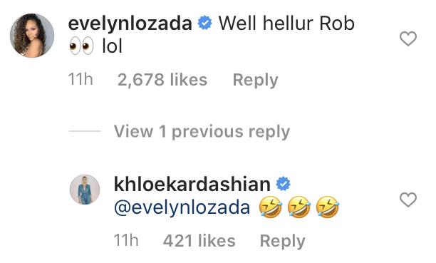 Basketball Wives Star Evelyn Lozada Flirts With Rob Kardashian After Seeing Recent Photos from Khloé Kardashian's Birthday Party