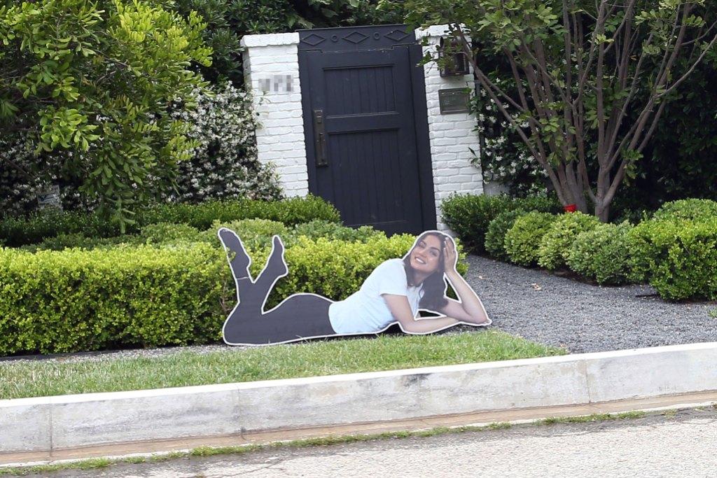 Ben Affleck Has HUGE Ana de Armas Cardboard Cutout His Lawn