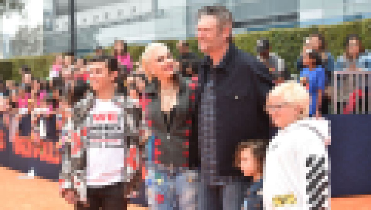 Blake Shelton Photos With Gwen Stefani's Kids Kingston, Zuma and Apollo