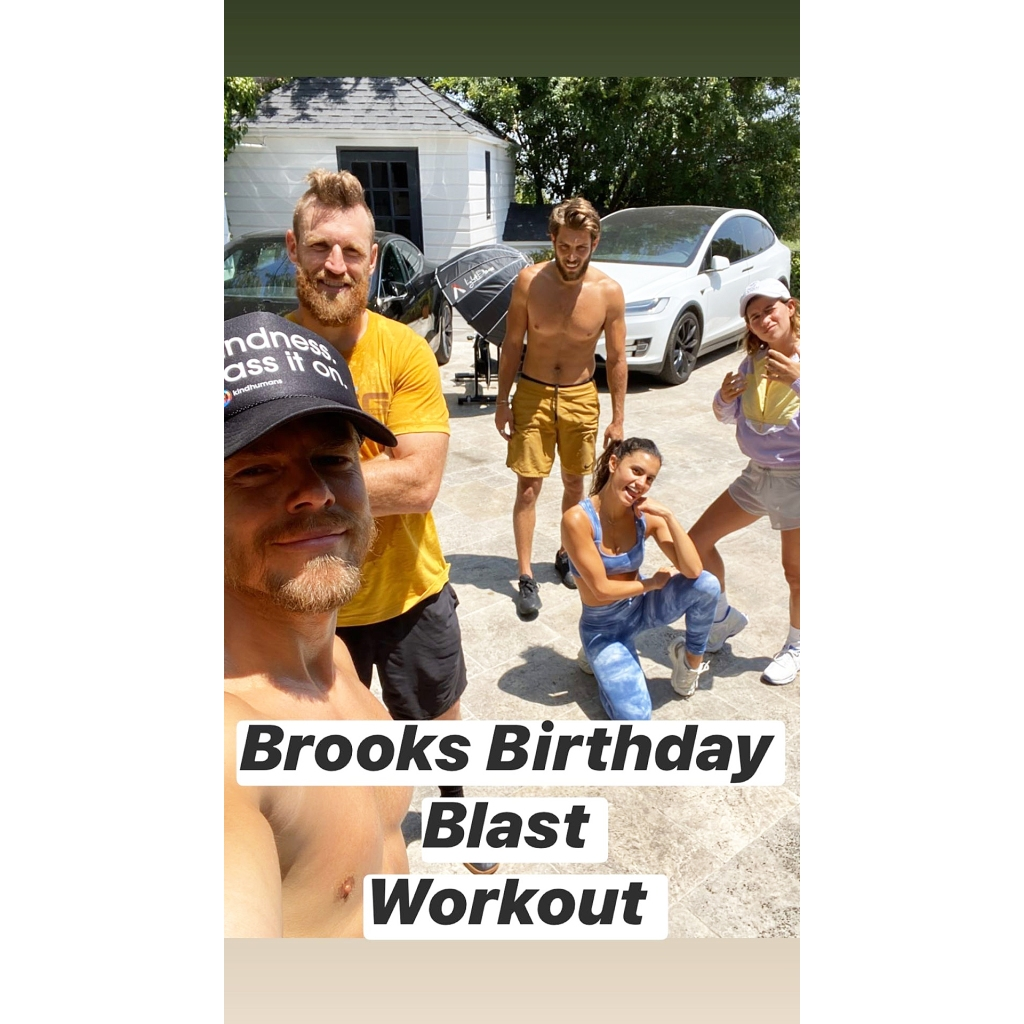 Brooks Laich Works Out With Julianne Hough Brother Derek for His Birthday Blast After Split