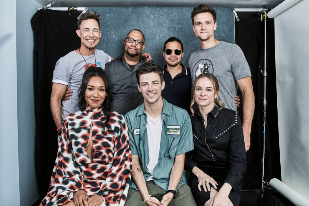 Hartley Sawyer and The Flash Cast and Crew