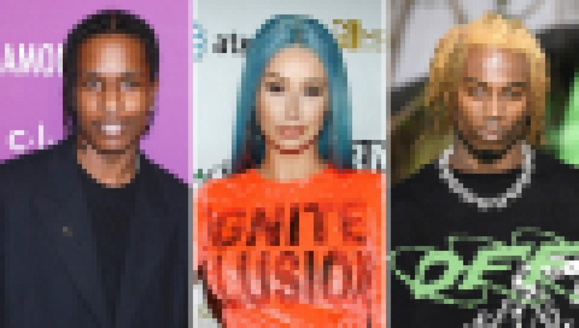 Side-by-Side Photos of ASAP Rocky, Iggy Azalea, Playboi Carti