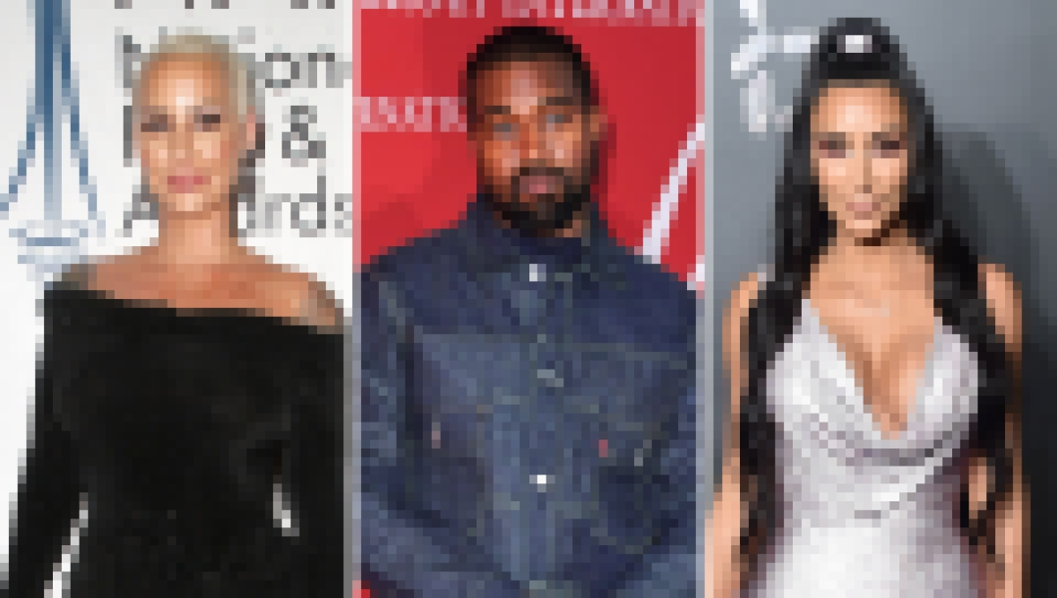 Side-by-Side Photos of Amber Rose, Kanye West and Kim Kardashian