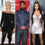 Side-by-Side Photos of Amber Rose, Kanye West and Kim Kardashian