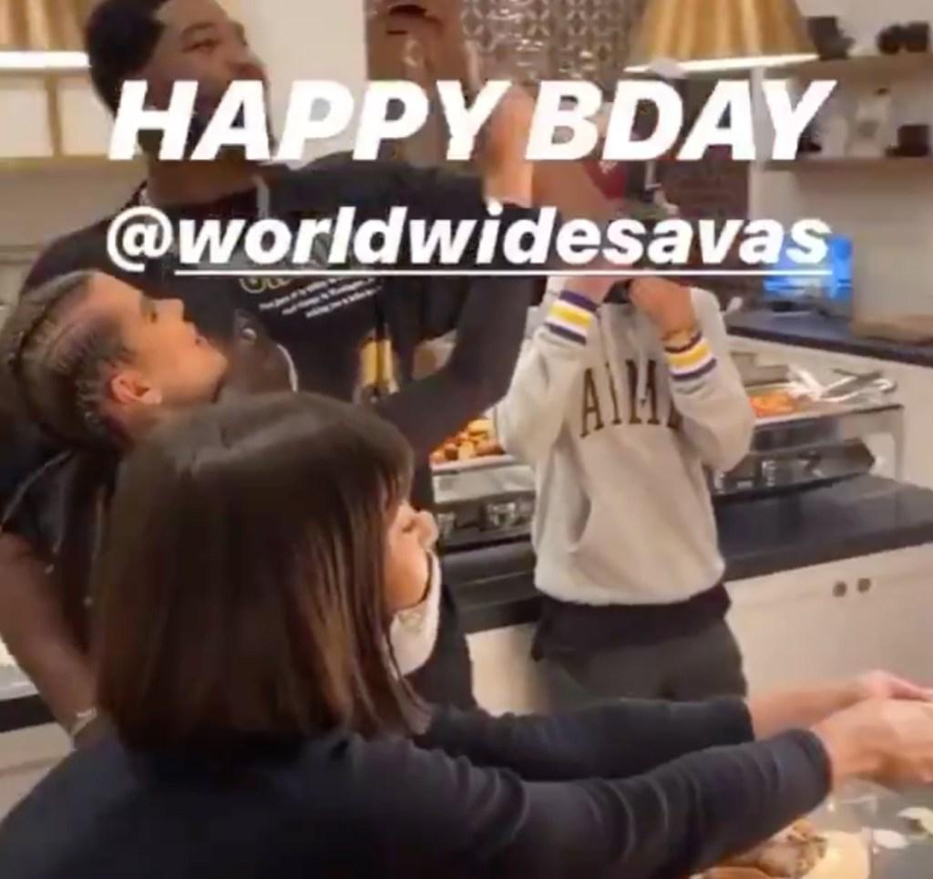 Tristan Thompson With His Arm Around Khloe Kardashian in Video