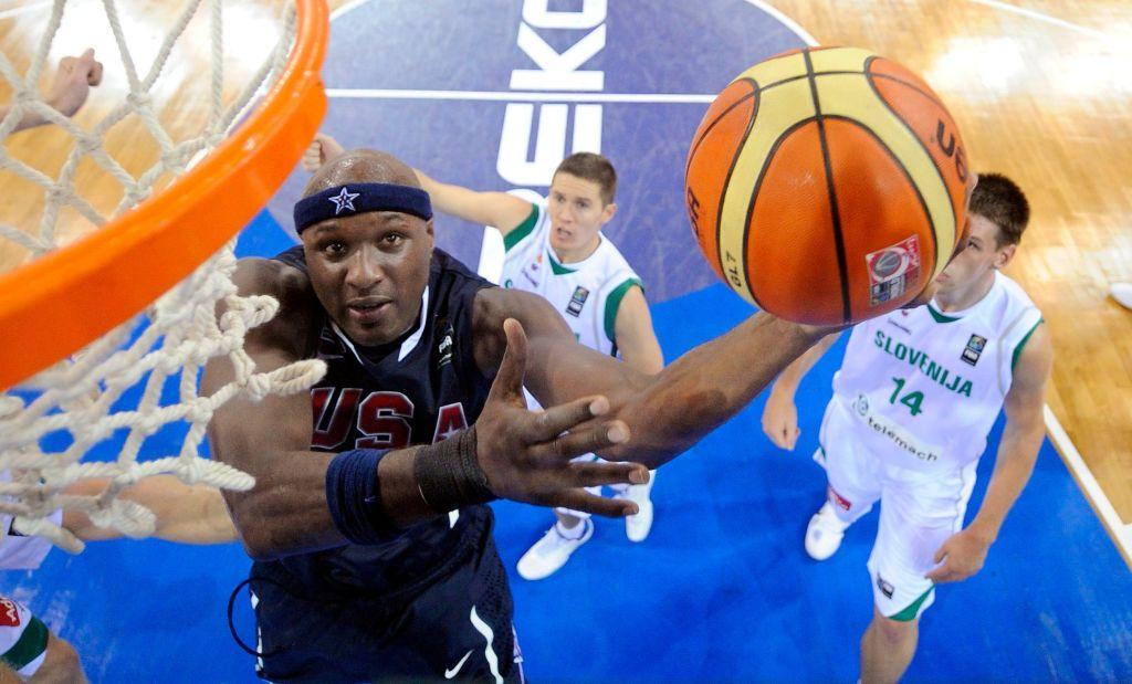 Lamar Odom Playing Basketball