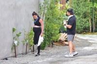 Lea Michele Cradles Baby Bump on Walk With Zandy Reich