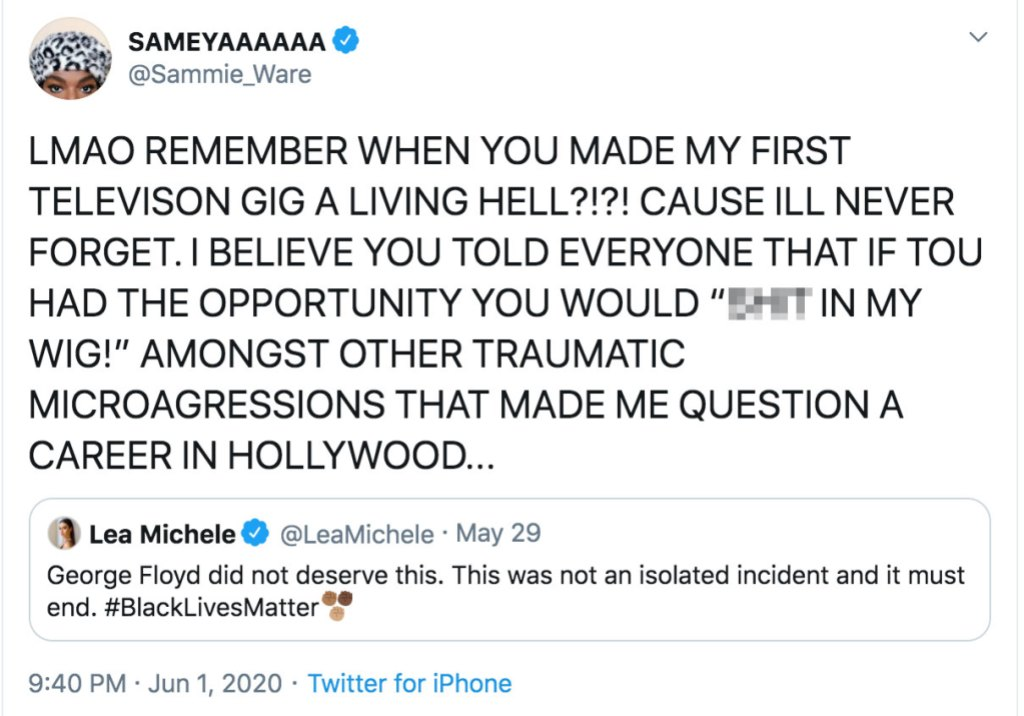 Lea Michele Responds to Samantha Marie Ware Claim She Bullied Her
