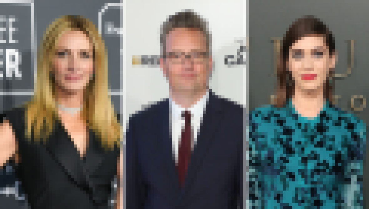 Side-by-Side Photos of Julia Roberts, Matthew Perry and Lizzy Caplan