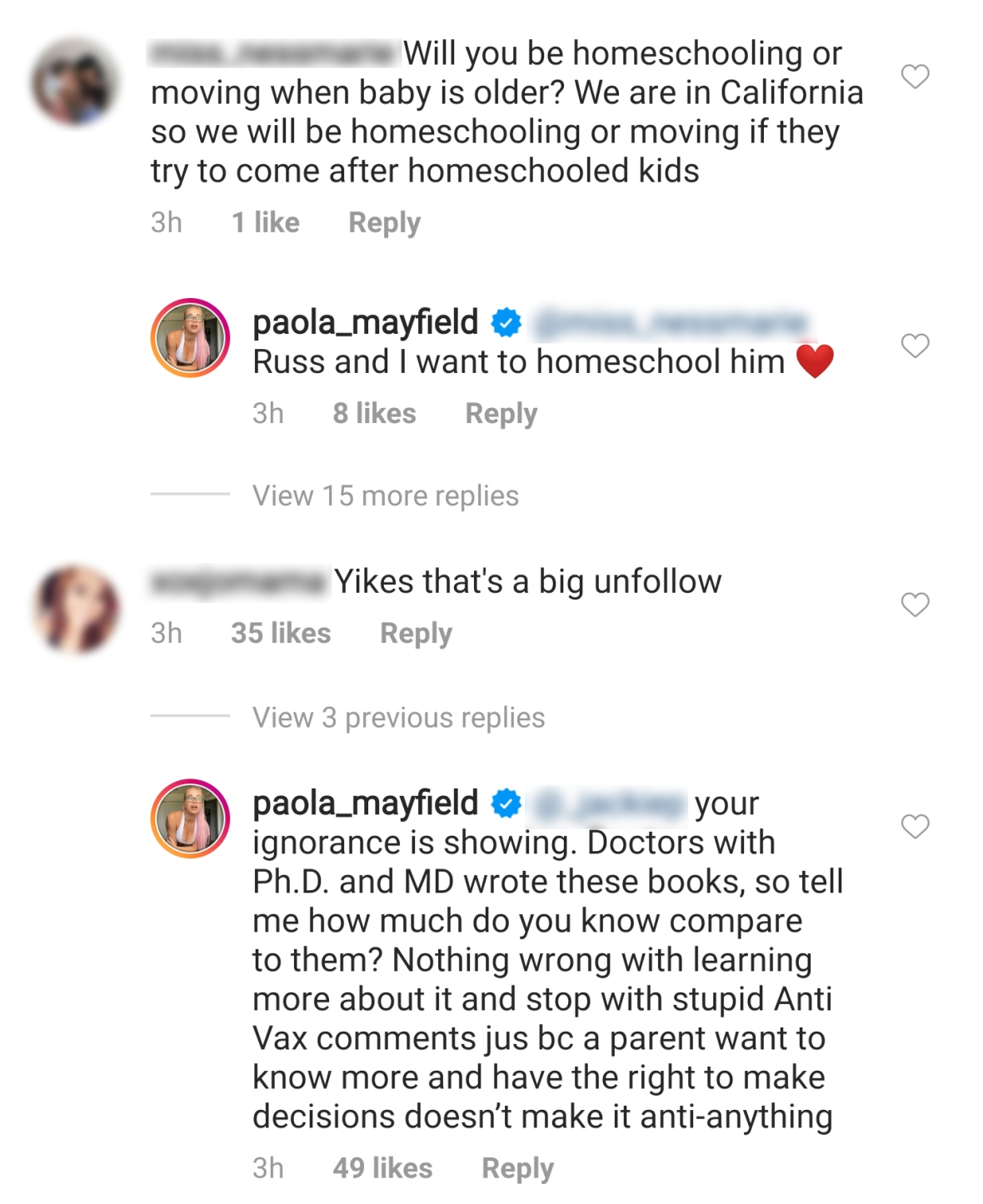 Paola Mayfield Reveals She Wants to 'Homeschool' Axel and Claps Back at Anti-Vax Claims