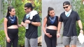 Lea Michele Cradles Baby Bump on Walk With Zandy Reich
