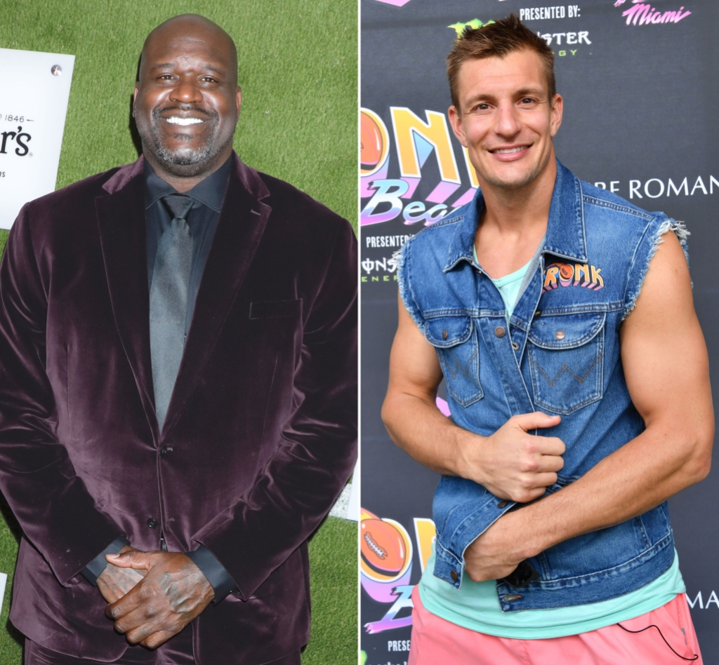 Shaquille O'Neal and Rob Gronkowski Team Up to Help Raise Money