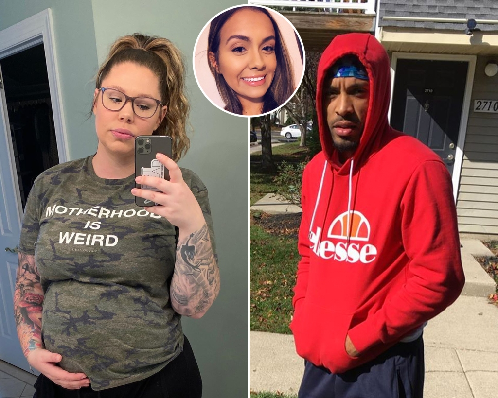 Inset Photo of Briana DeJesus Over Side-by-Side Photos of Kailyn Lowry and Chris Lopez