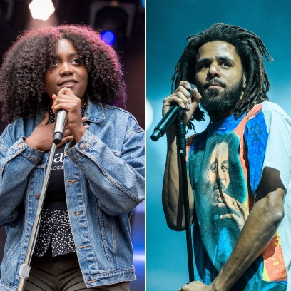 Side-by-Side Photos of Noname and J. Cole