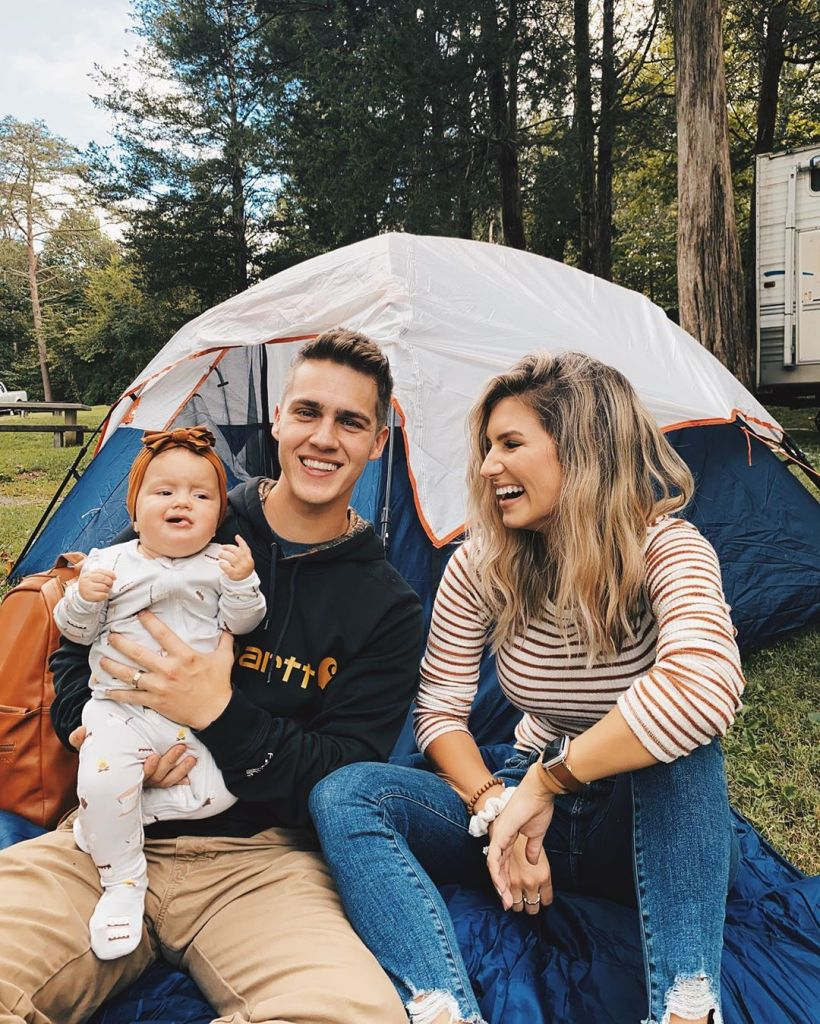 Carlin Bates Takes Daughter Layla Stewart Camping